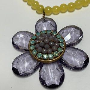 Lenora Dame Beaded Rhinestone Crystal Necklace